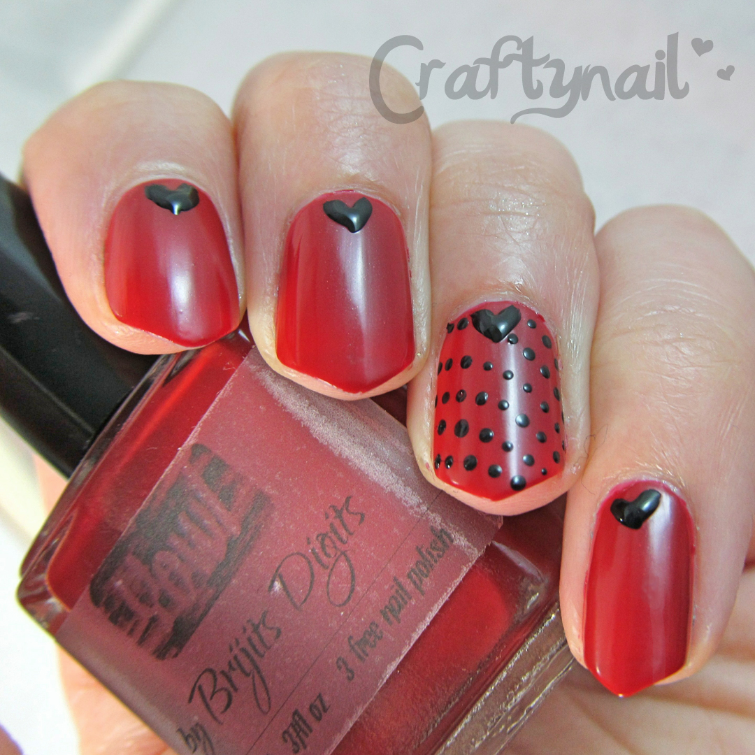 Craftynail: Red Nail Polish From Brijits Digits For #NAILLINKUP