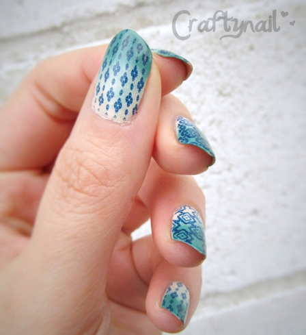 stamping with gradient thumb