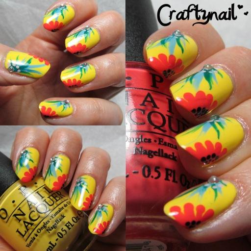 brazil opi nail art