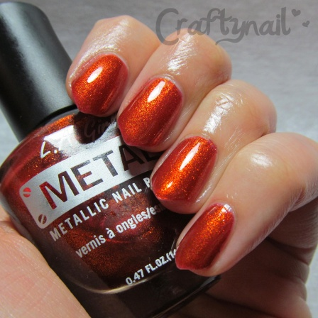 copper alloy metal nail polish