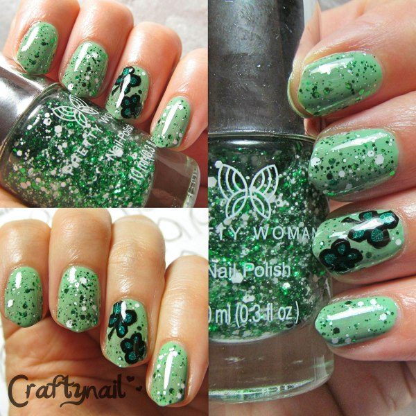 green glitter st patricks day