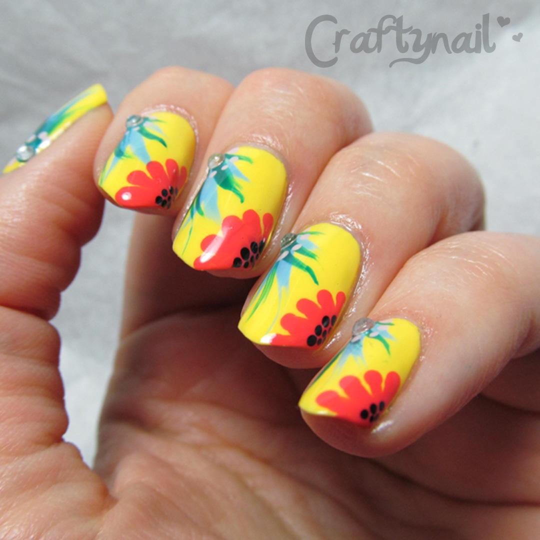 Craftynail: OPI Brazilian Floral Nail Art