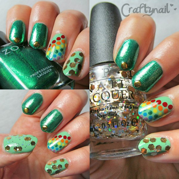 st paddys day mix mani