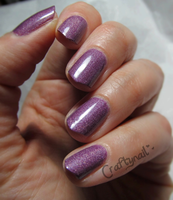 AVON purple holo swatch