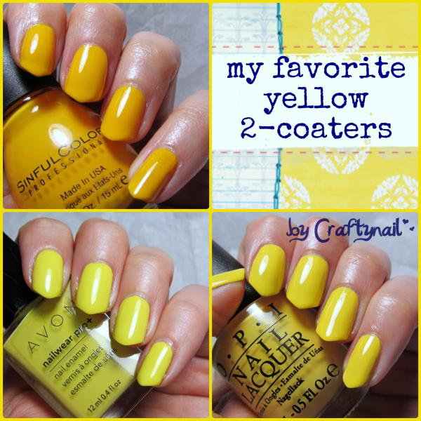 my fave yellow nail polishes