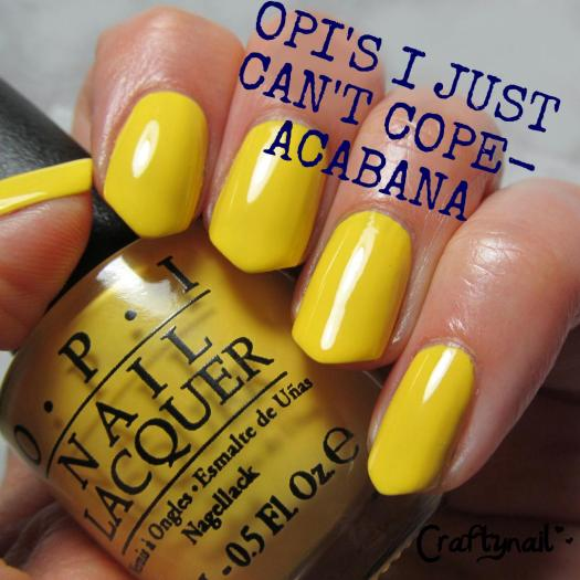 OPI I Just Can't Cope Acabana Swatch