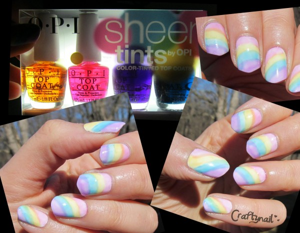 sheer tints nails by Craftynail