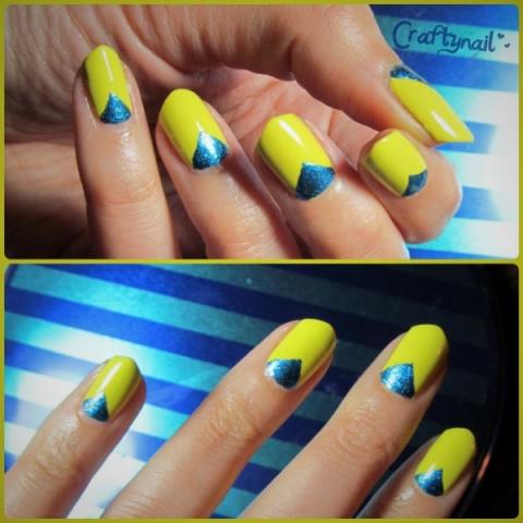 yellow nail art