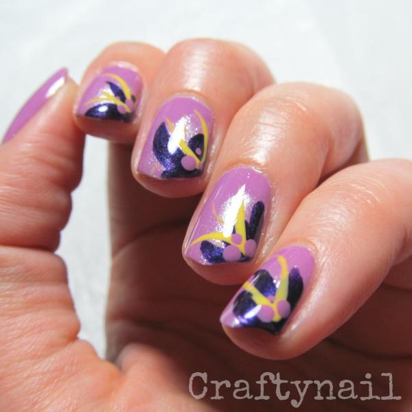 orchid nail art